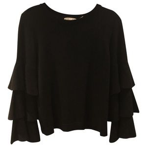 Alice & Olivia Small Ruffle Sweater
